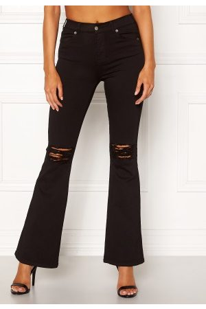 Dr Denim Kvinder Bootcut - Macy Black Ripped Knees XL/30