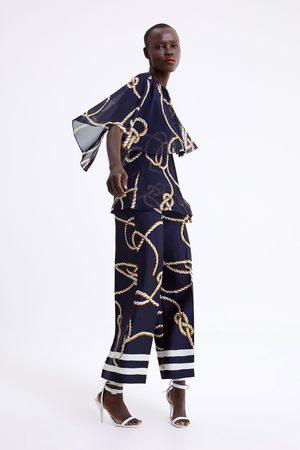 Zara Culottebukser med knudeprint