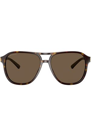 Bvlgari Diagono-solbriller med skildpadde-mønster