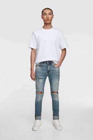 Zara Skinny jeans med malerpletter