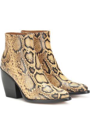 Chloé Kvinder Ankelstøvler - Exclusive to Mytheresa – Rylee snake-effect leather boots