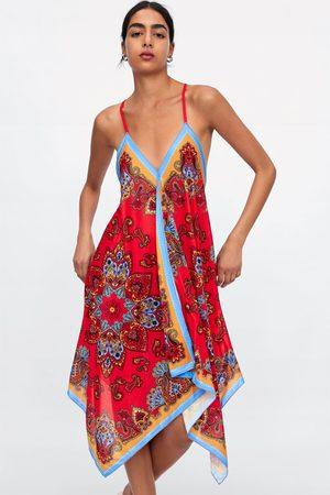 Zara Asymmetrisk kjole med mønster
