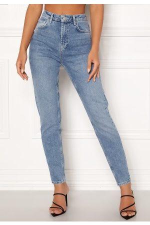 Pieces Leah Mom HW Ankle Jeans Light Blue Denim XS