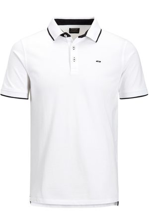 Jack & Jones Klassisk Plus Size Poloshirt Mænd White