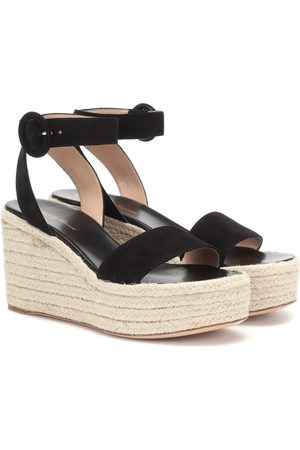 Gianvito Rossi Kvinder Kilehæle - Exclusive to Mytheresa – 45 suede espadrille wedges