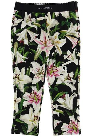 Dolce & Gabbana Leggings & Treggings - Leggings - Lilium - m. Hvide Liljer