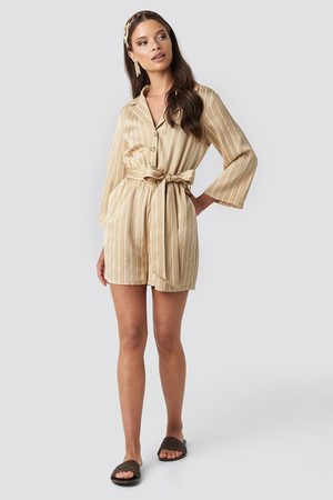 NA-KD Striped Playsuit