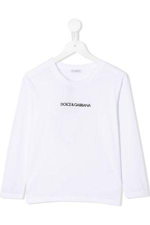 Dolce & Gabbana Top med lange ærmer og logotryk
