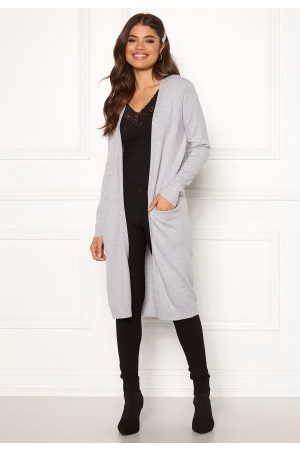 Vila Kvinder Strik - Ril Long Knit Cardigan Light Grey Melange S