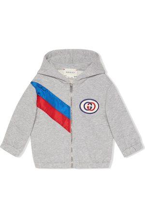 Gucci Baby Hoodies - Ribbon zip-up hoodie