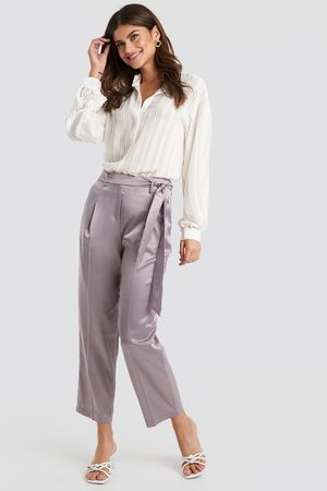 Trendyol Kvinder Habitbukser - Belt Satin Trousers