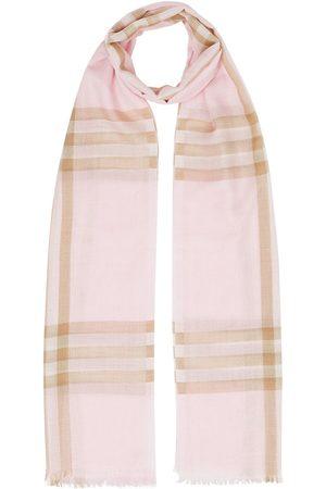 Burberry Ternet letvægtstørklæde i uld og silke