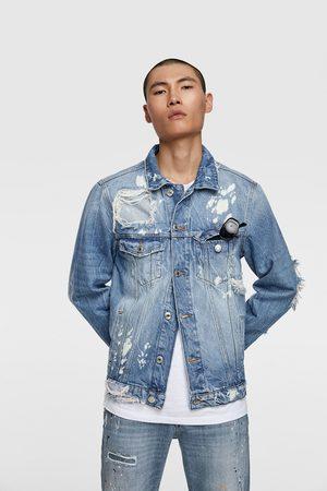 Zara Denim jakke med lapper