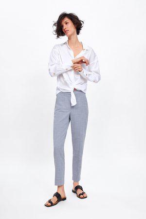 Zara Kvinder Slim & Skinny bukser - Melerede bukser – slim fit