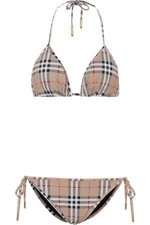 Burberry Kvinder Bikinier - Vintage Check triangle bikini
