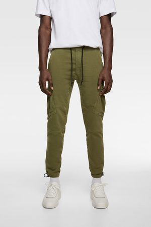 Zara Mænd Cargo bukser - Cargobukser i soft denim