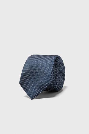 Zara Mænd Slips - Bredt, jacquardvævet slips med geometrisk mønster