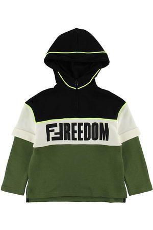 Fendi Sweatshirts - Kids Sweatshirt - Armygrøn/ m. Print