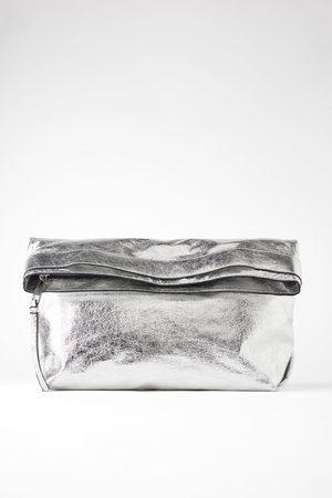 Zara Metallisk maxi clutch