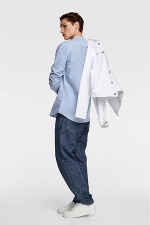 Zara Mænd Langærmede - Oxford-skjorte med kinakrave