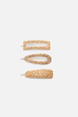 Zara Pakke med hårspænder med struktur