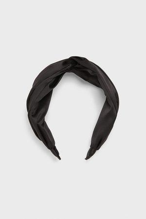 Zara Hårbøjle i satin med knude