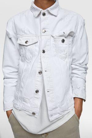 Zara Denim jakke med huller
