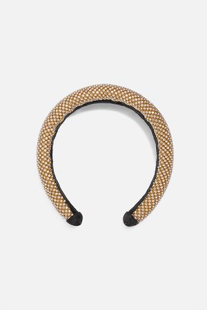 Zara Polstret hårbøjle med rhinsten