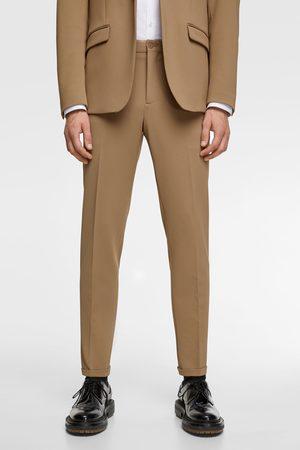 Zara Komfortable, strukturvævede habitbukser i strik med 4-way-stretch