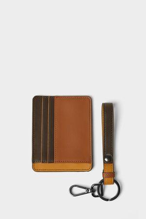 Zara Pakke med trefarvet kortholder og nøglerem