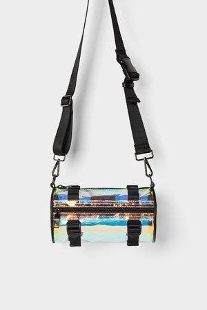 Zara Rørformet skuldertaske i vinyl