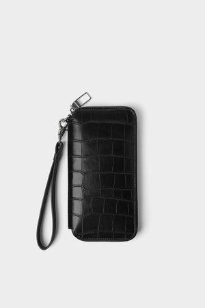 Zara Oversize tegnebog med krybdyrsprægning