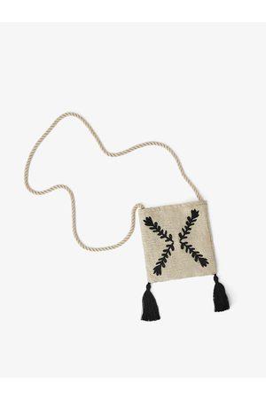 Zara Broderet skuldertaske med kvaster