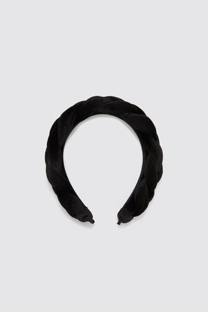 Zara Braided velvet headband