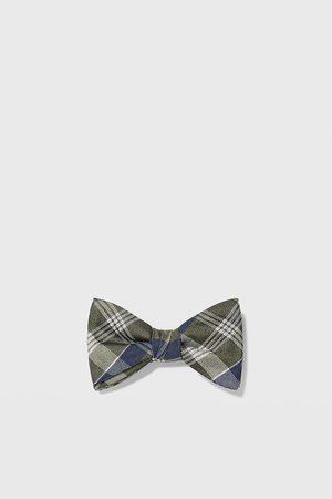 Zara Check jacquard bow tie
