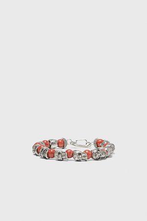 Zara Beaded skull bracelet