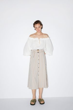 Zara Striped skirt with belt