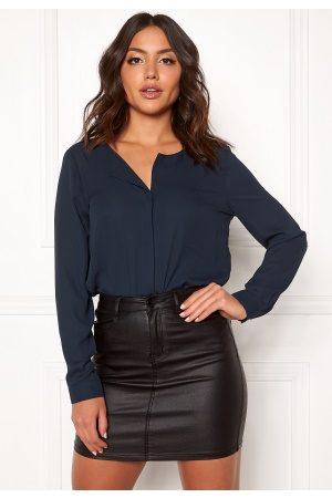 Vila Kvinder Casual - Lucy L/S Shirt Total Eclipse S