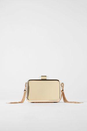 Zara Guldfarvet clutch