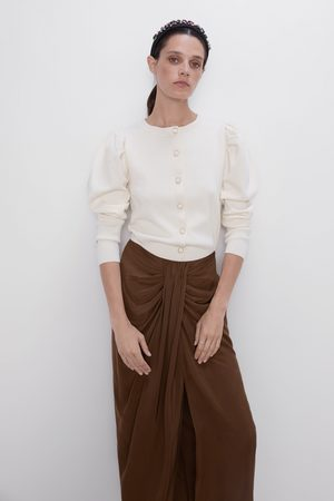 Zara Strikket cardigan med knapper