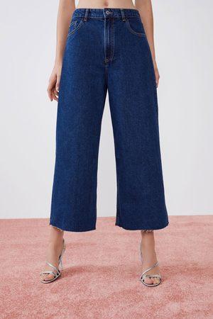 Zara Kvinder Culottes bukser - Højtaljede culotte-jeans