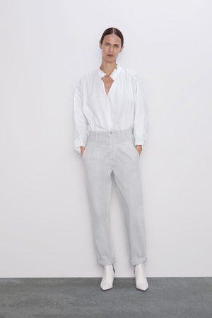Zara Kvinder Tapered - Jeans zw premium 80's tapered ice stone