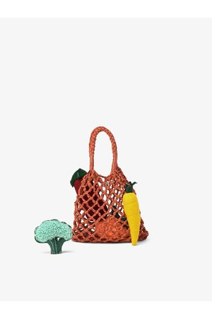 Zara Shoppertaske med grøntsagsdetaljer