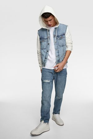 Zara Denim jakke med hætte