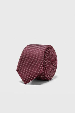 Zara Smalt jacquardvævet slips med geometrisk motiv