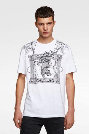 Zara T-shirt med kombineret broderi