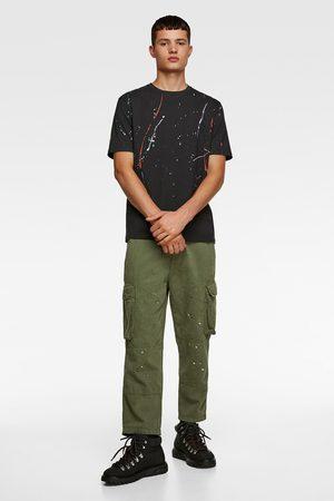 Zara T-shirt med malerpletter