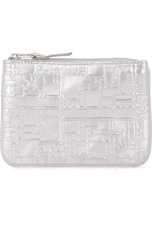 Comme des Garçons Tegnebog sølv trykt læderpung