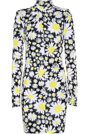 RICHARD QUINN Daisy-print velvet minidress