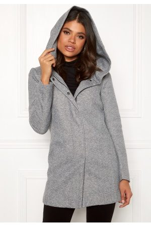 Only Kvinder Vinterfrakker - Sedona Light Coat Light Grey Melange XS
